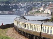 Brittania Steam locomotive passing through Dawlish Warren