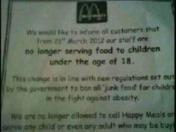 McDonalds refuse under 18s