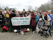 Protest at Whiddon Valley, Barnstaple