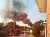 Fire at Stevenage Fairlands Valley Park