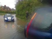 Team Poth rescue motorist stranded on flooded road!