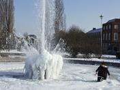 Kid falls through ice in Welwyn garden city fountain