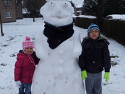 Our snowman Albert.