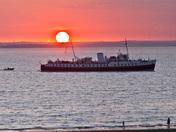 Balmoral arriving in Weston Bay