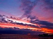 """""""Fiery"""" sky over weston"""