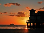 Pier photos at sunset.
