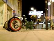 40mph sign has been secretly living underneath a bin in weston highstreet