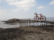 Biking Birnbeck.