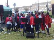 Sanctuary Christian Fellowship Community Choir performing during local Street Pa