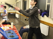 Pancake Making and flipping by Ilford East Explorer Scouts on Shrove Tuesday at