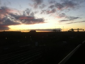 Sunset over willesden junction