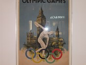 olympic poster display at canary wharfe