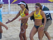Bronzed Brazilian Olympic Beach Volleyball Team achieve a bronze medal