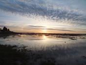 sunset over stiffkey marsh