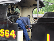 Engine change LNER 7564 at Sheringham before heading off to Weybourne