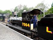 Engine change LNER 7564 at Sheringham before heading off to Weybourne
