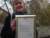 Norwich woman gets letter from the Queen