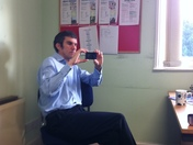 Richard at the diss office