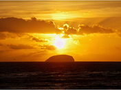 Sunset on steep holm w.s.m.