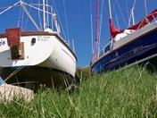 Boats in  dry dock