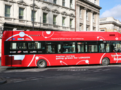 Hydrogen-Fuel cell-Zero emission bus at London Bridge