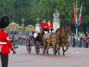 Sophie, Countess of Wessex during trooping the colour 2011