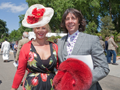 Laurence Llewelyn Bowen & his wife at the Chelsea Flower Show 2011