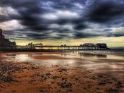 Stormy skies over Cromer Pier