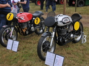 1962 Matchless G50 and 1958 Manx Norton 500cc