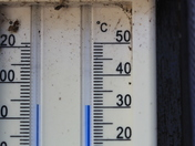 """The mercury passes 30 degrees! in Hunstanton. """"Sunny Hunny"""" has become hot."""