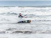 Kite waterskiing