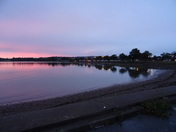 Pink sky at dusk over the Estuary