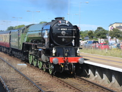 Tornado Steam Loco Entering Great Yarmouth Station