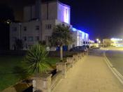 Exmouth Pavilion at night.