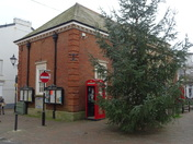 Christmas tree by Sidmouth Market House