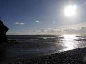 Winter on Budleigh beach