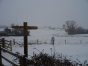 A Winter Wonderland at the Footpath to Lower Halsdon