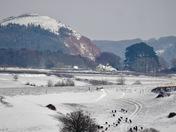 Peak Hill in the snow