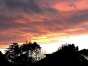 Sunset over my neighbour's house