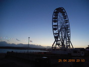 The Exmouth Observation Wheel seen after dusk