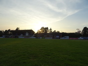 Just before sunset over Exmouth RFC