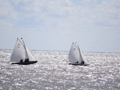 Yacht racing off Lowestoft Today