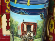 Barge painted Milk Churn