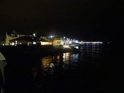 Exmouth sea-front at night, from the Docks.