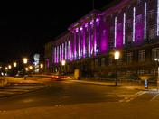 Christmas lights on City Council