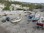 capturing the fishing boats at Beer beach