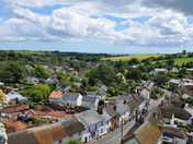 Unusual Seaview from East Budleigh taken from the top of the church tower