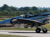 Silver spitfire at Duxford