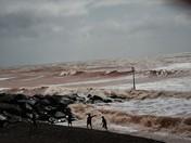 Stormy Sidmouth Esplanade