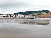 Sidmouth's unusually low tide